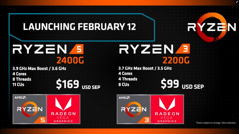 amd ryzen apu launch specs slide ryzen apu