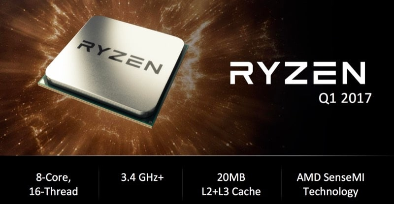 AMD Zen Is Now Ryzen, Desktop CPUs Clocked at 3.4GHz+ Coming Q1 2017