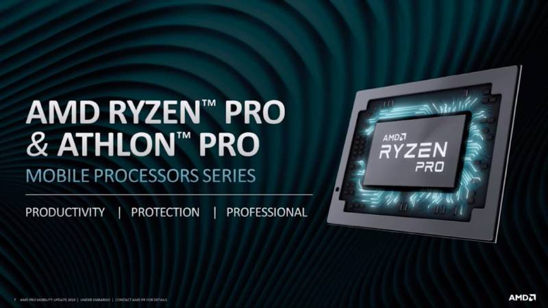 AMD Ryzen Pro 3000-series, Athlon Pro CPUs Launched for Thin