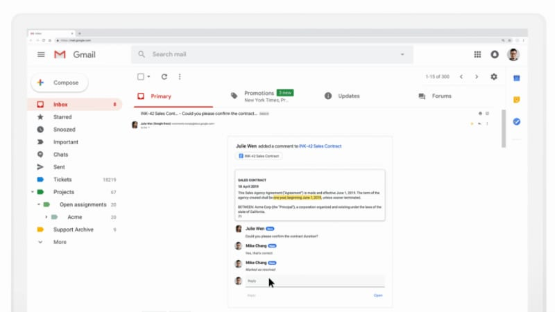 Gmail Gets AMP Support to Start Handling Dynamic Emails