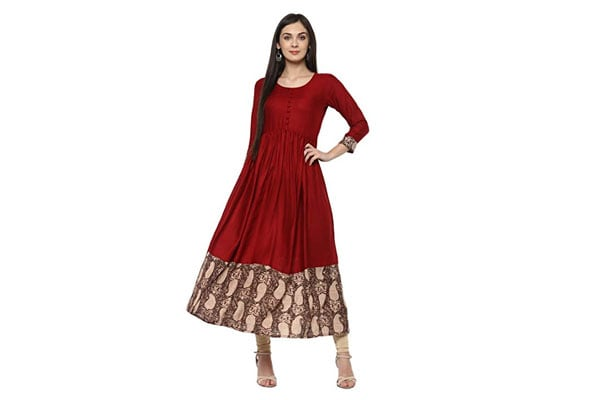 best anarkali suits in india IVES Women's Viscose Kurti