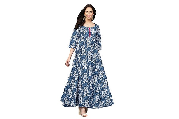 best anarkali suits in india Amayra Women's Cotton Anarkali Kurti