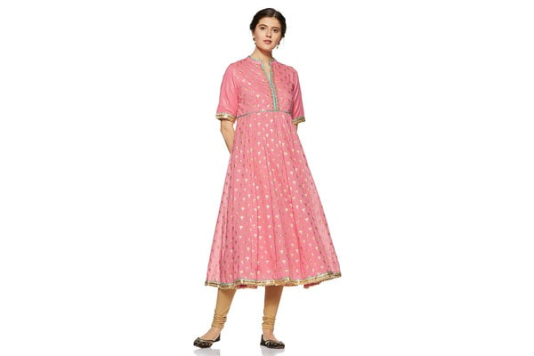 best anarkali suits in india BIBA Women's Anarkali Kurta