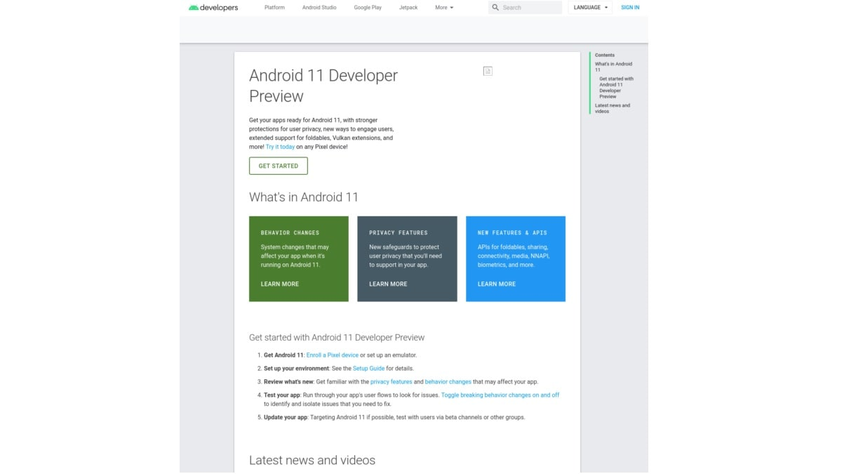 Android 11 Developer Preview Site Briefly Goes Live, Gets Quickly Pulled by Google