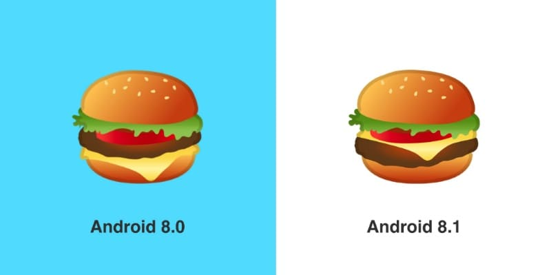 Google Fixes 'Android Burger' Emoji, Places Cheese Atop Patty in Android 8.1 Oreo Developer Preview