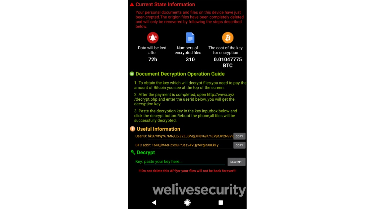 android filecoder c ransomware ransom note welivesecurity Android filecoder