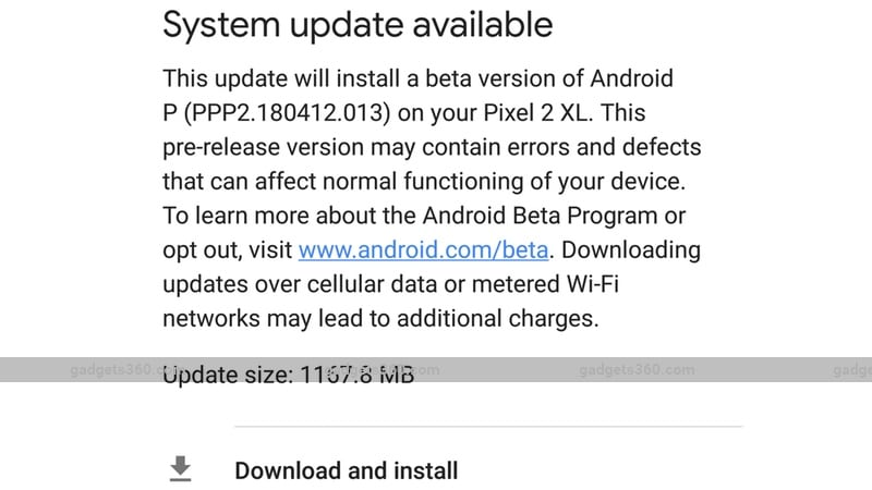 android p google pixel 2 download install Android P