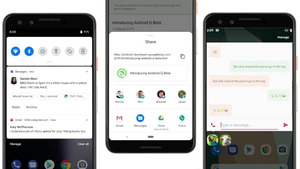 Android Q to Bring Bubble Notifications, Quick Replies, and Other Big New Features