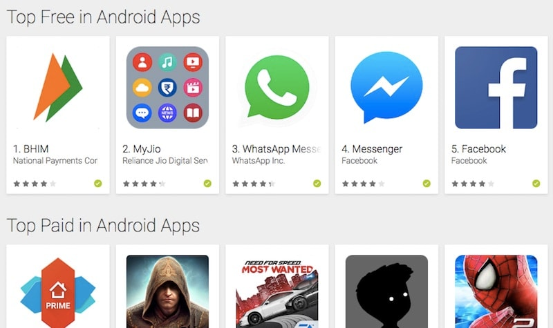 BHIM App Tops Download Charts on Google Play India: 10 ...