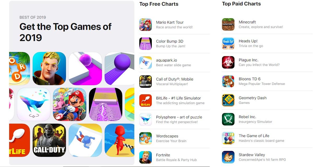 app store top games App Store