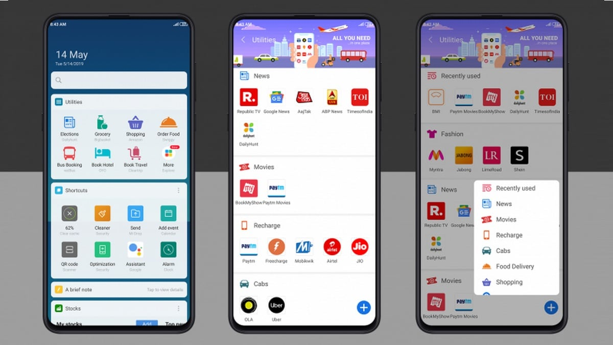 Xiaomi Improves MIUI's App Vault, Adds New Services Across 14 Categories Under the Utilities Card