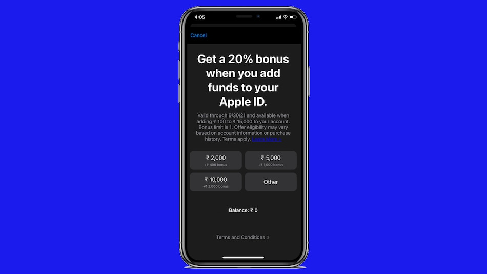 Apple App Store in India Giving 20 Percent More When You Add Funds to Your Apple ID