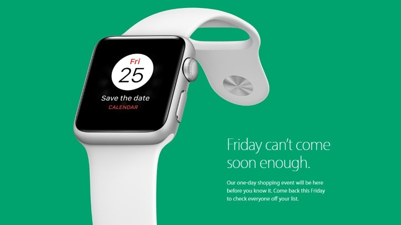 Apple Teases One-Day Black Friday Shopping Event