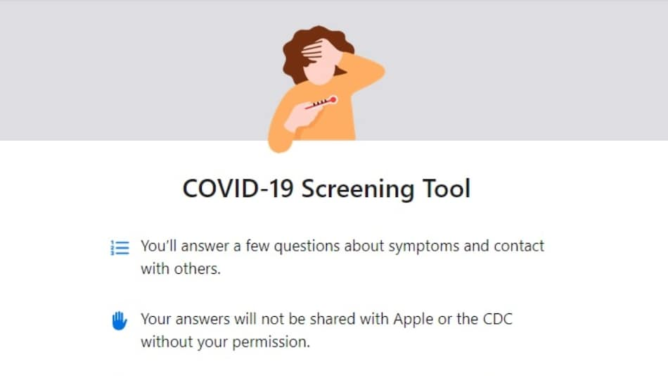 Apple's COVID-19 App Updated With New Screening Questions, Recommendations to Prevent Coronavirus