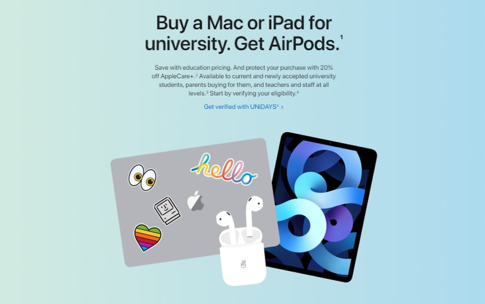 Apple Offering Free AirPods to Students Buying Select Mac, iPad Devices: Check Eligibility, All Details