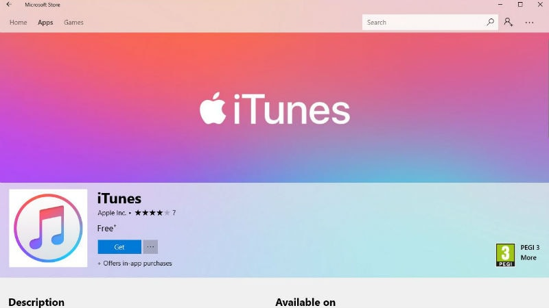 iTunes Finally Available on the Microsoft Store for Windows 10