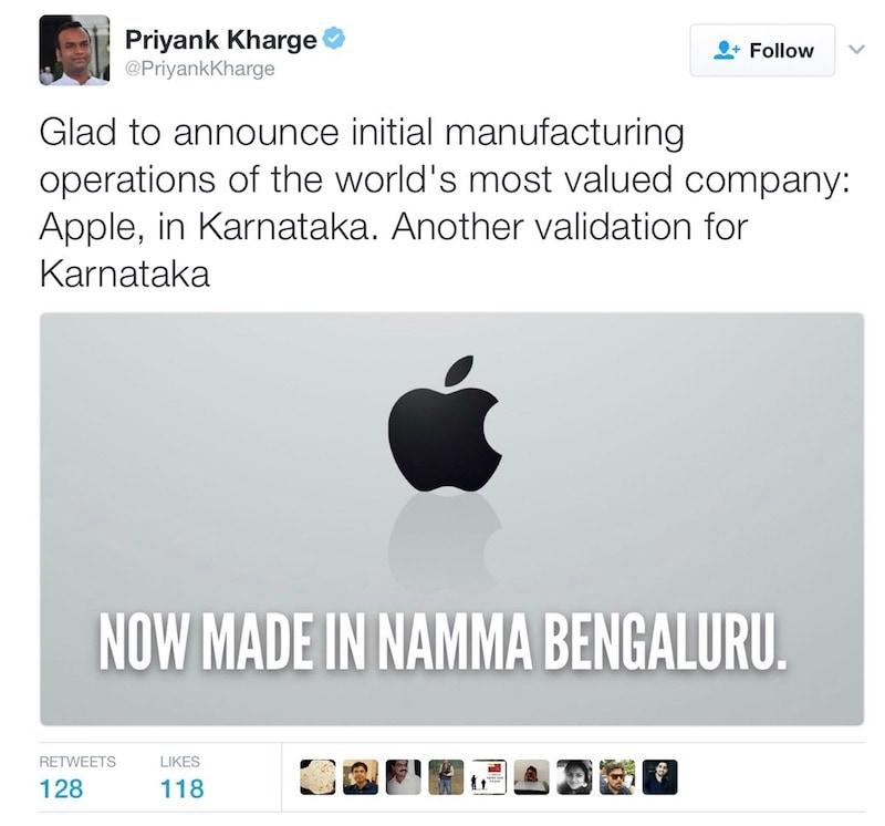 apple karnataka tweet Apple