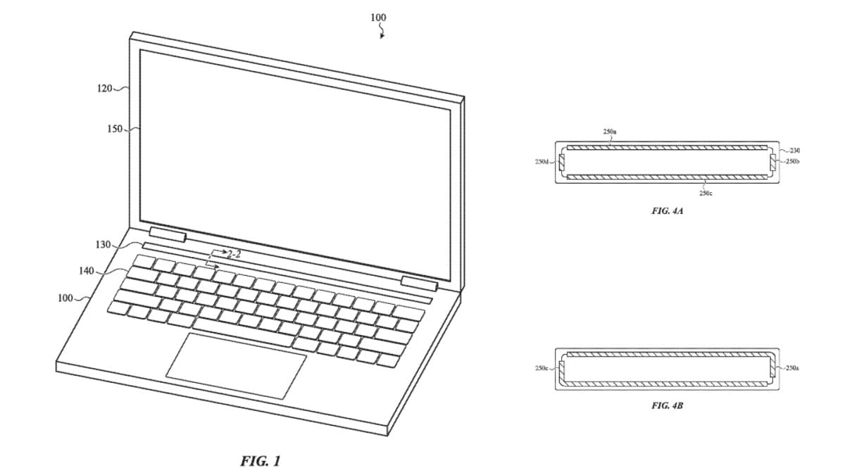 apple macbook pro touch bar force touch patent image uspto Apple MacBook Pro  MacBook Pro Touch Bar