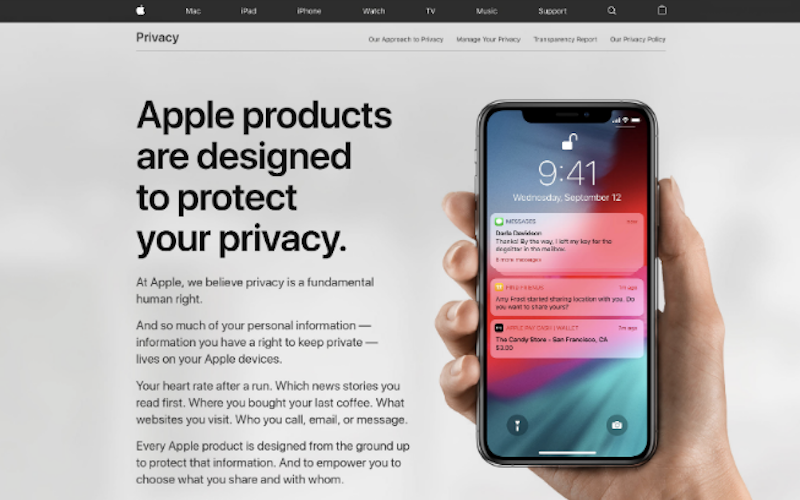 Apple's New Website Underlines Its Privacy-Focussed Approach to Your Data