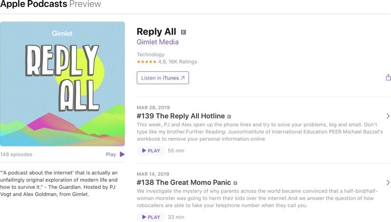 Apple Now Lets Users Listen to Podcasts on the Web