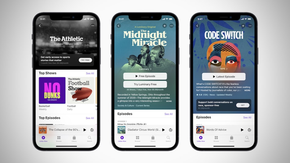 Apple Podcasts Subscriptions, Podcast Channels Announced