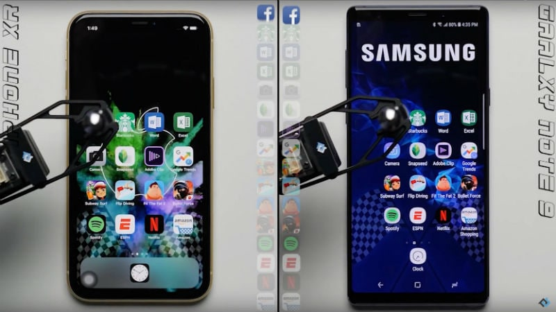 iPhone XR Seen to Tie With Samsung Galaxy Note 9 in New Speed Test Video