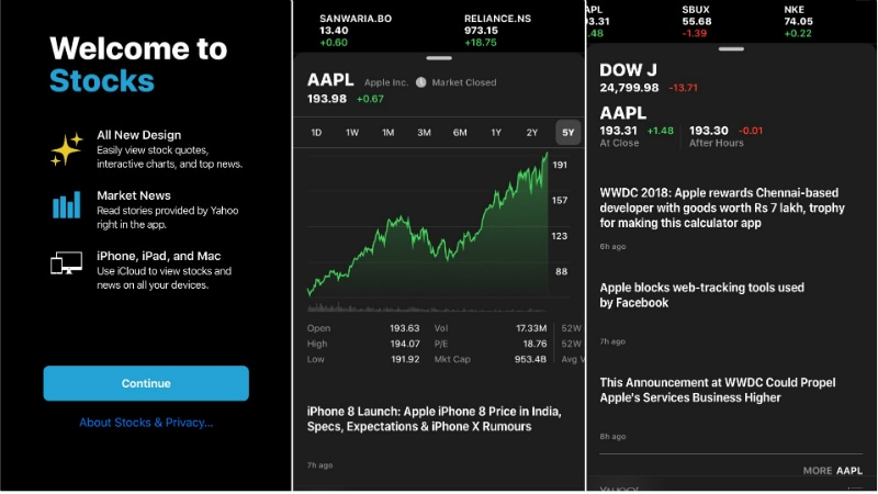apple stocks ios 12 inline iOS 12 WWDC 2018