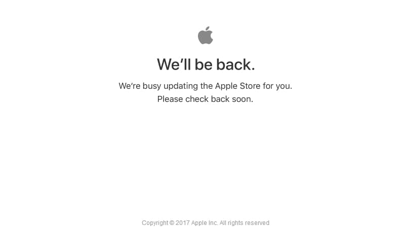 Apple Store Goes Down Ahead of WWDC 2017 Keynote; New iPad and MacBook Models Expected