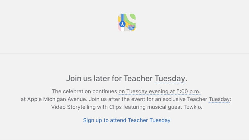 Apple Sends Invites for 'Teacher Tuesday' Event for March 27