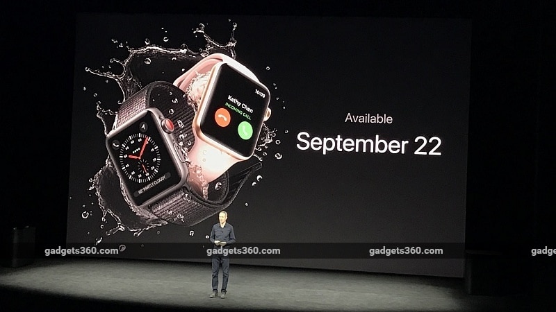 Apple Event 2017: Apple Watch Series 3 With LTE Connectivity, eSIM Announced