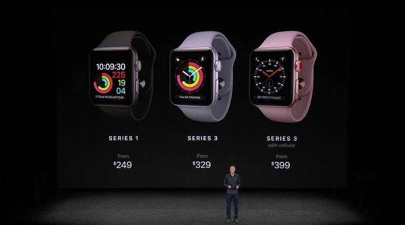 Apple Watch Series 3 लॉन्च, इसमें है एलटीई कनेक्टिविटी
