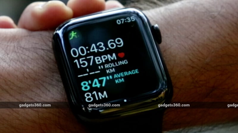 apple watch series 4 pace alert gadgets 360 Apple Watch Series 4