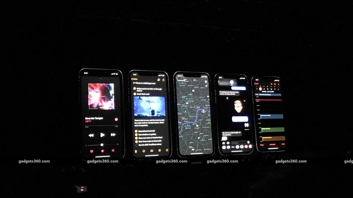 apple wwdc19 ios darkmodeapps ndtv wwdc