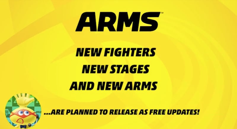 arms nintendo switch free updates Arms