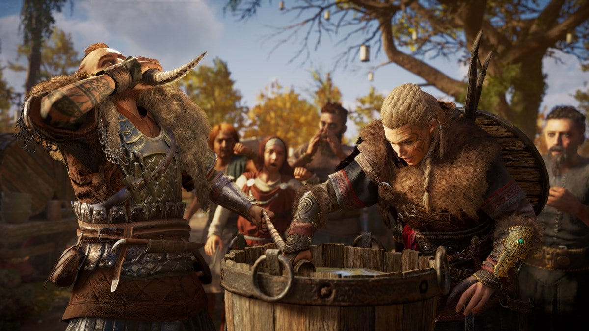 assassins creed valhalla review drinking Assassins Creed Valhalla review