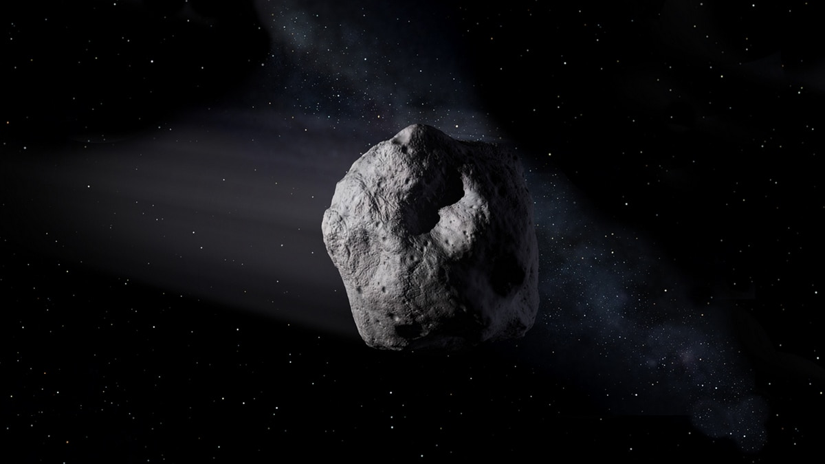 Large Asteroid on Near Miss Course for Earth on a Friday the
