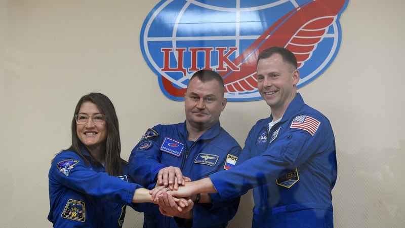 Soyuz MS-12 crew enters ISS after docking complete