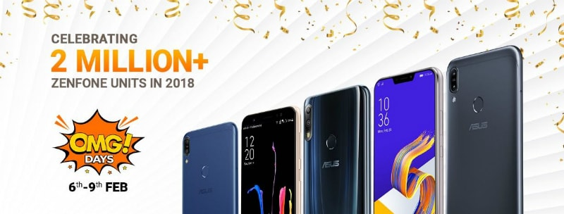 Asus OMG Days Sale Starts February 6: ZenFone Max Pro M2, ZenFone Max Pro M1, ZenFone 5Z Discounted Prices Revealed