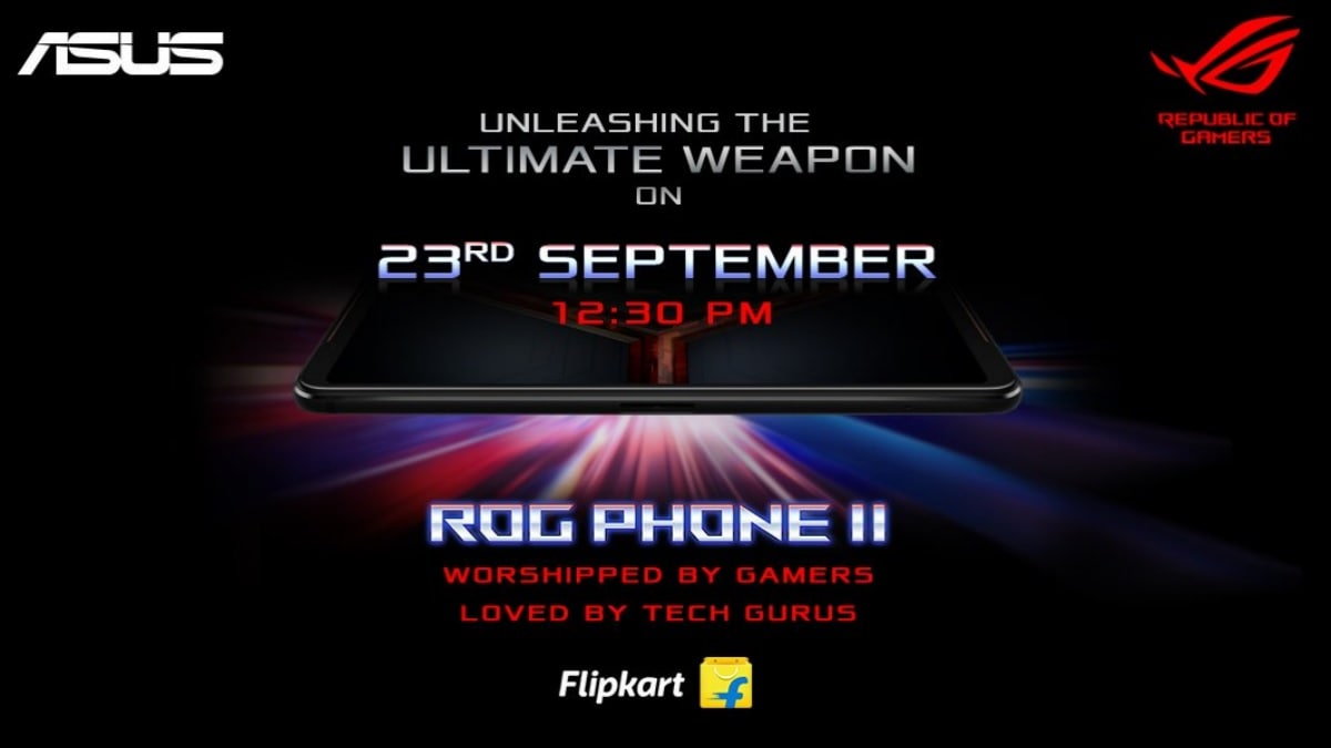 Asus ROG Phone 2 India Launch on September 23, Teaser Page Goes Live on Flipkart