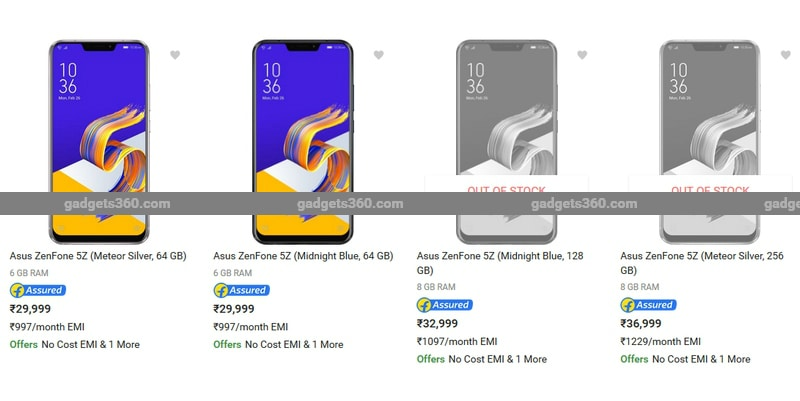Asus Zenfone 5Z Price in India Leaked Before the Official Launch