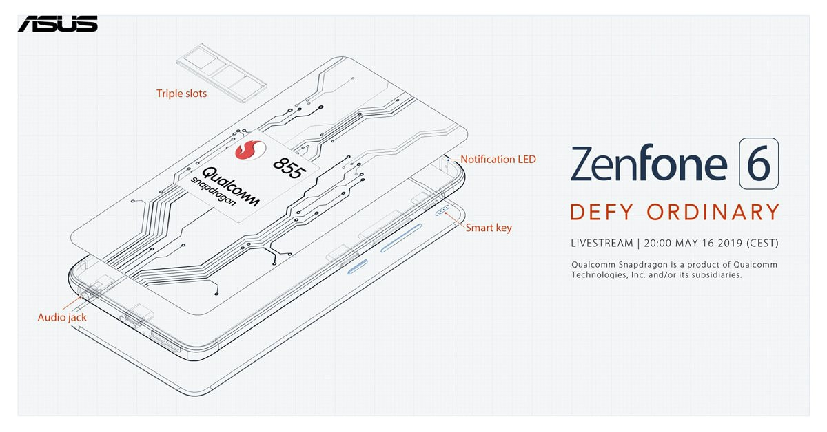 Asus ZenFone 6 Confirmed to Sport 48-Megapixel Camera, 5,000mAh Battery, Snapdragon 855 SoC