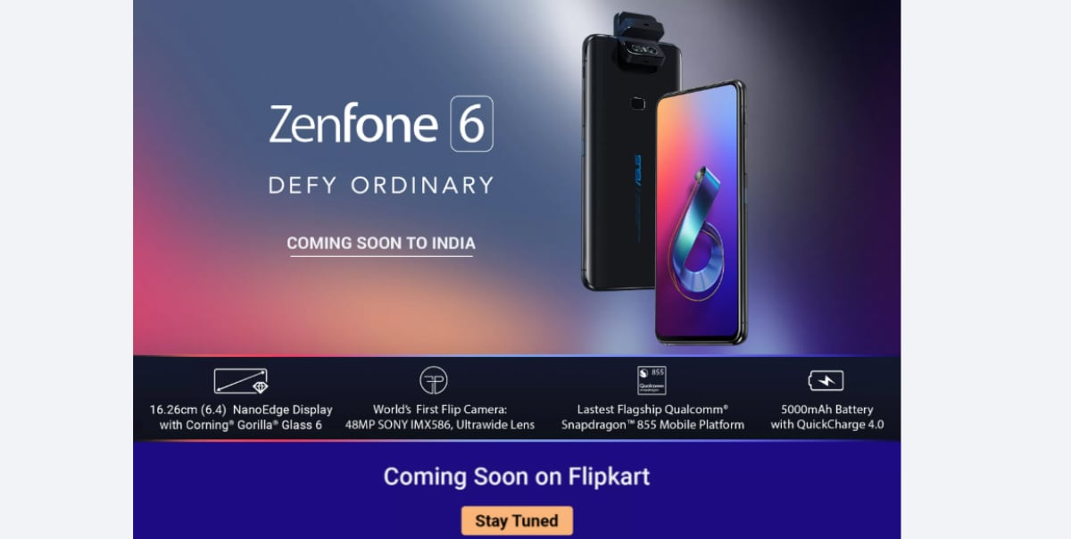 Asus ZenFone 6 Coming Soon to India, Listed on Flipkart