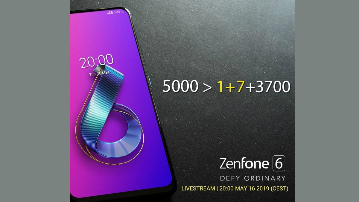 Asus ZenFone 6 Teaser Takes Jab at OnePlus 7, Touting Massive 5,000mAh Battery