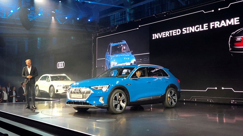 Audi Unveils E-Tron Electric SUV to Compete With Tesla Model X, Takes Amazon's Help for Charging Systems