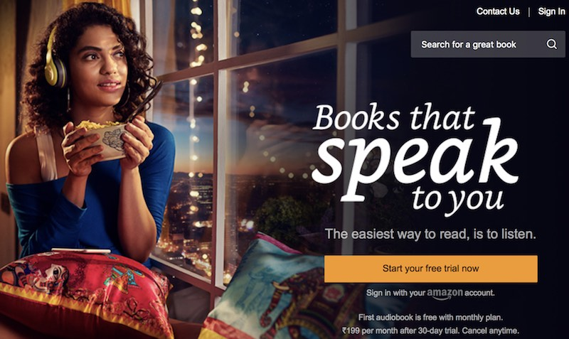 Amazon's Audiobooks Subscription Service Audible Launched in India in Beta, Price Starts at Rs. 199 Per Month