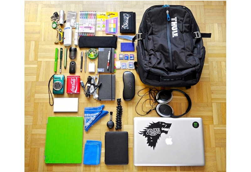 bag contents flickr Backpack