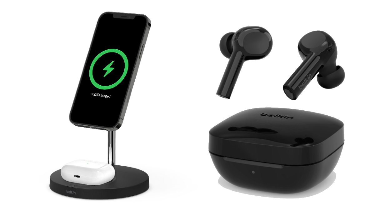 Belkin Soundform Freedom TWS Earbuds Boost Charge Pro 2-in-1 Wireless Charger Stand Launched at CES 2021