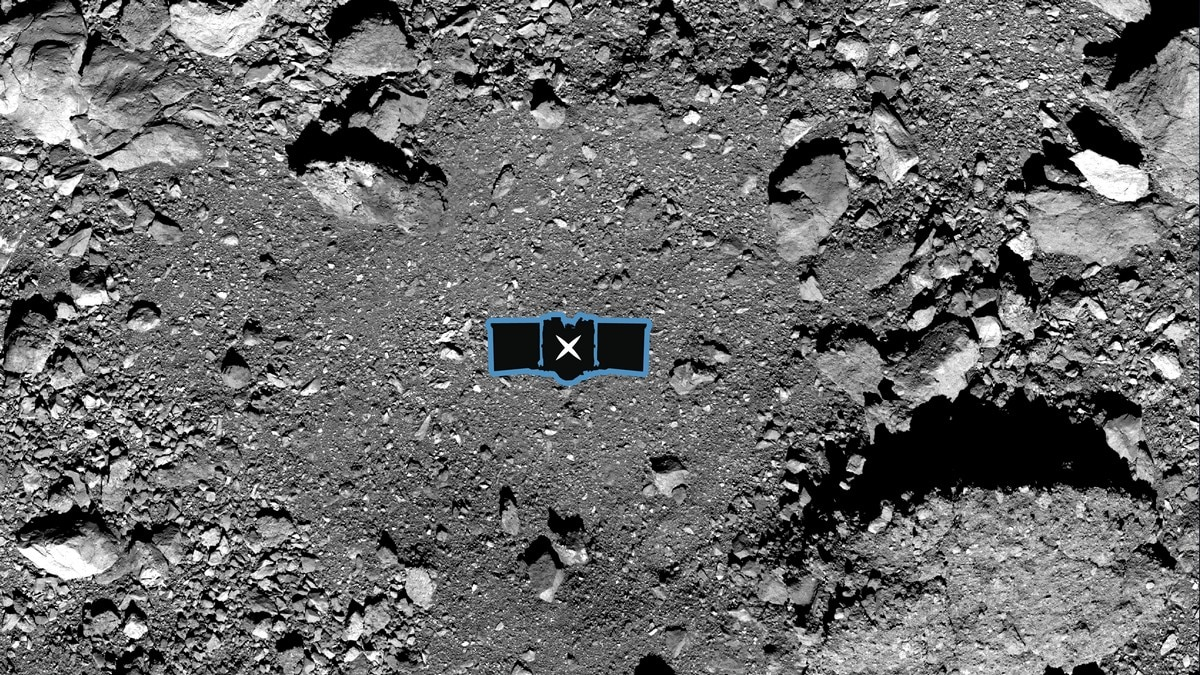 REx Team Will Boop This Spot on Asteroid Bennu