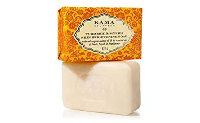 best brightening soaps in India Kama Ayurveda Turmeric and Myrrh Skin Brightening Soap, 125g