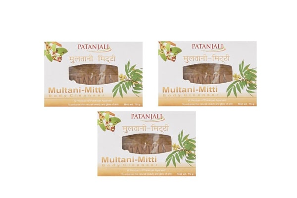 best brightening soaps in India - Patanjali Ojas Multani Mitti Body Cleanser, 75g (Pack of 3)